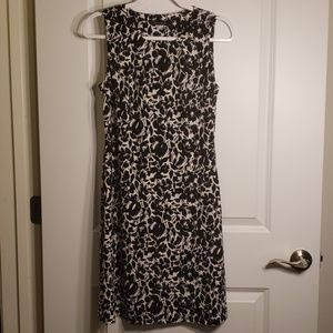 NWT Tommy Hilfiger Black and White Floral Dress